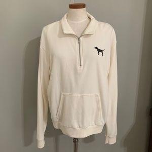 Pink VS Ivory Sweatshirt W/ Animal Print Back